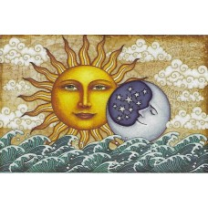 Daytime Sun and Moon Tapestry