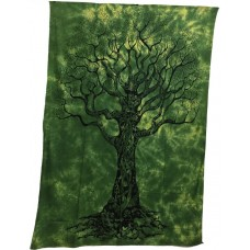 Tree of Life Tapestry - Green