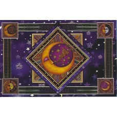 Moon With Trumpet Tapestry